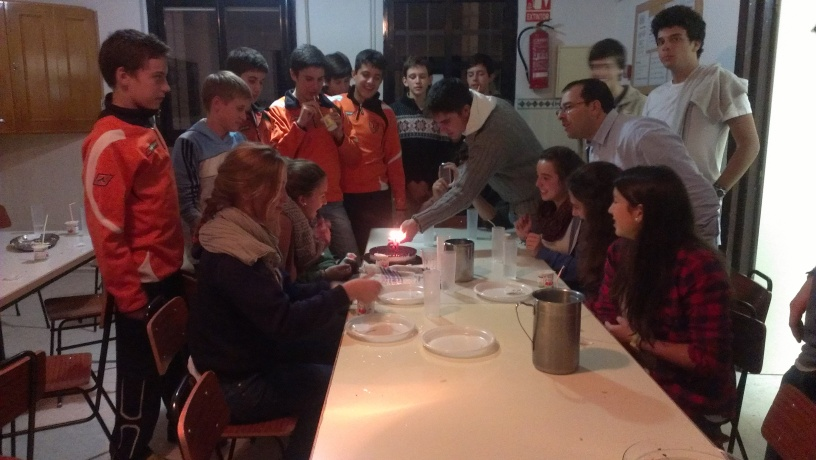 Cumpleaños feliz, con la gente de SENDA
